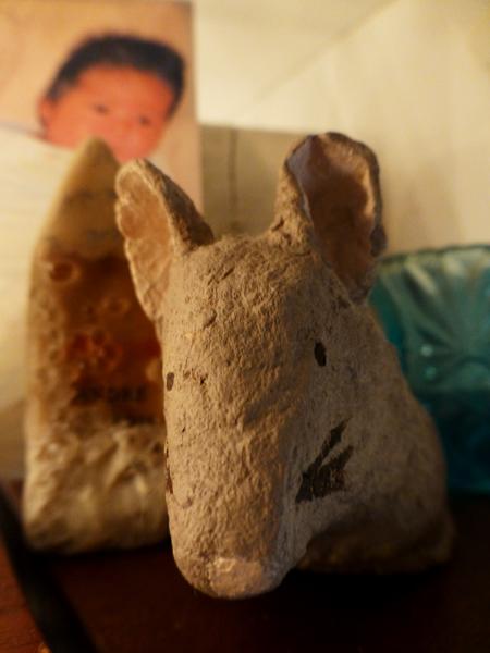 Papier mache mouse P1000169